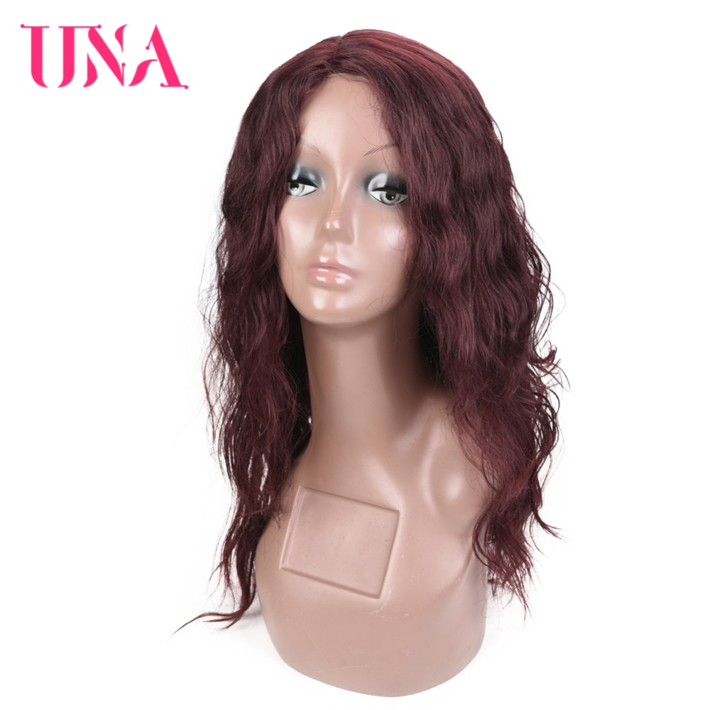 UNA Indian Human Hair High Density Wigs Non Remy Long Deep Wave Wigs Color #1 #1B #2 #4 #27 #30 #33 #99J #BURG #350 #2/33