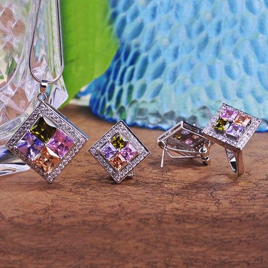 Fashion Gorgeous AAA CZ Zircon Jewelry Sets Necklace Earrings Ring Bijouterias Collar Brincos Anel O Conjunto de Joias Game kpop
