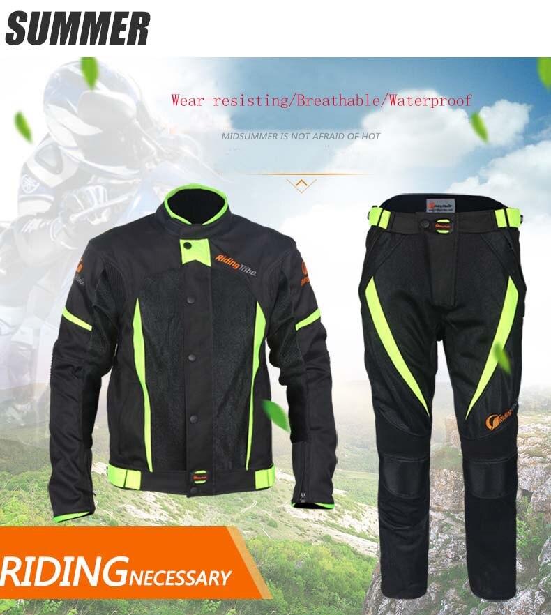2017 Riding Tribe Waterproof Motorcycle Jackets Breatheable Motocross Pants Motos jaqueta chaqueta clothing Summer Spring Suits стоимость