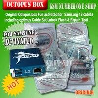 Gsmjustoncct 100% Originele 2019 nieuwe octopus box/Octoplus Box Voor SAMSUNG + 19 Kabels voor SAM Unlock Flash Reparatie mobiele Telefoon