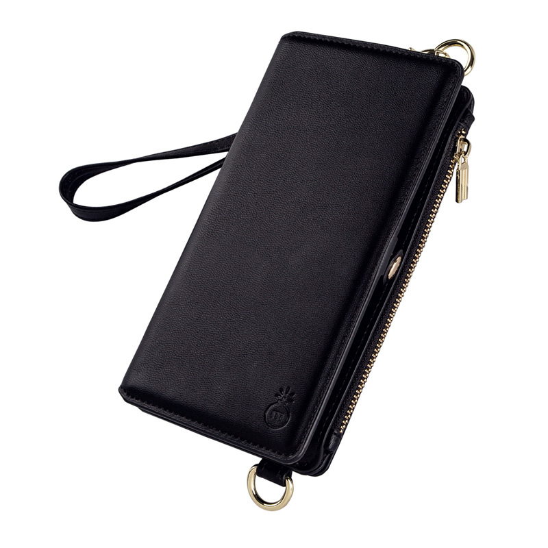 New For iPhoneXS MAX mobile phone shell wallet mobile phone holster multi function protective cover Messenger