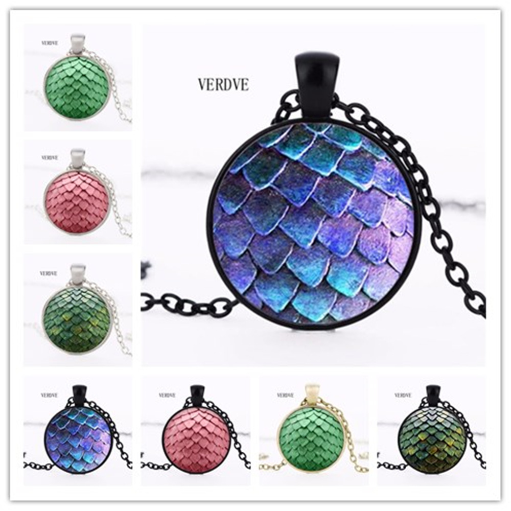Free Shipping VERDVE 3 color wholesale new colorful crystal art necklace throne game necklace dragon pebble pendant photo crysta ...