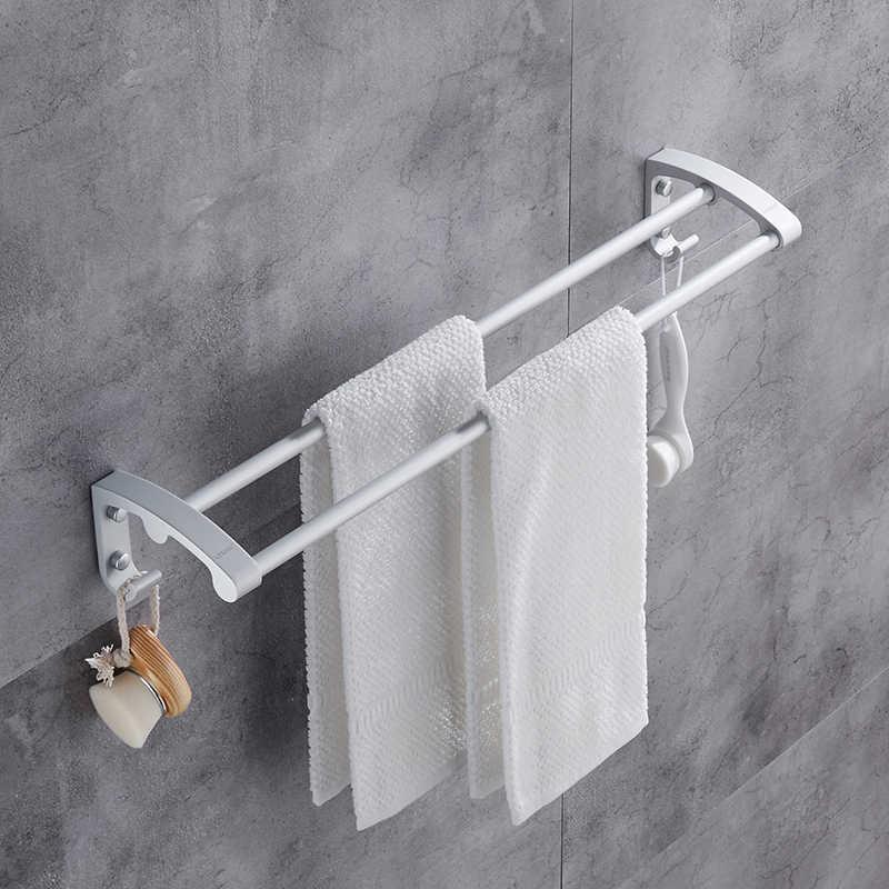 Darmowa wysyłka na ręczniki ręcznik wieszak na ręczniki uchwyt wykonany chrom łazienka sprzętu wieszak na ręczniki ręcznik wiszący pręt akcesoria łazienkowe