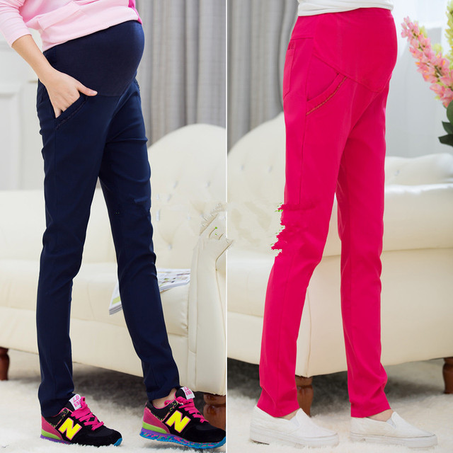 Casual Maternity Pants for Pregnant Women Cotton Maternity Clothes 2016 Overalls Pregnancy Pants Maternity Clothing Trousers B79