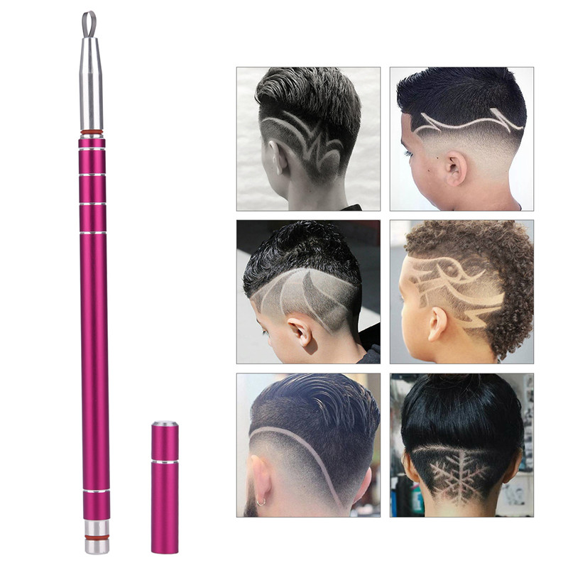 1 Pen+10 Blades Hair Carving Pen Magic Oil Head Notch Man Hair Refined Steel Barber Razor Pen Eyebrow Trimmer Beard Shaver 4950 top sale kemei km 666 dry battery style electric hair clipper excluding battery