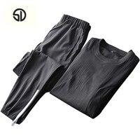Sommer Männer Set Sporting T-shirt + Pants Sportwear Track anzug Männlichen Zweiteilige Sweatsuit Schnell Trocknend Homme Trainingsanzug Für männer
