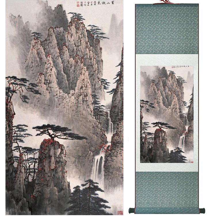 Mountain and River painting Chinese scroll painting landscape art painting home decoration picture 041715