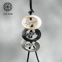 Rope Chain Pendant&Necklaces Round Simple Necklace Vintage Handmade 2018 New Popular Gifts Trendy Wholesale