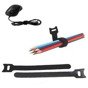 Image 2 - KEITHNICO 100 Pcs Reusable Buộc Các Quan Hệ Cáp 12x200mm Sợi Nhỏ Vải Móc và Vòng Lặp Dây Quản Lý Dây Tổ Chức dây đeo