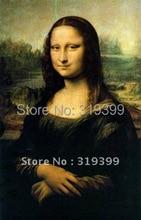 Oil Painting Reproduction on linen canvas,Mona Lisa by Leonardo Da Vinci,Fast Free Shipping, 100% Handmade,Museum quality