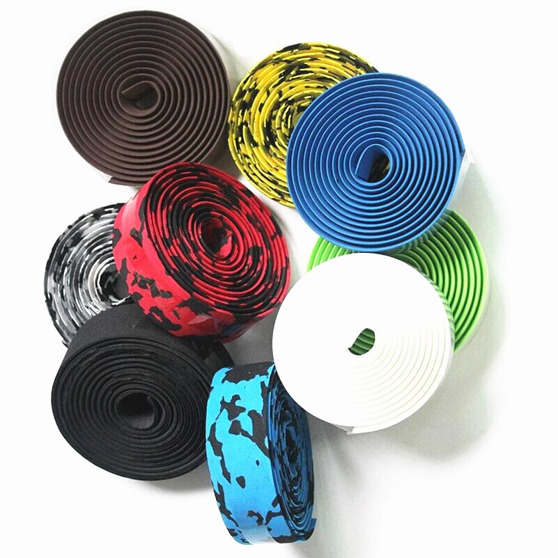 Hot Sale! 2015 New Arrival High Quality Colorful Cycling Handle Belt Bike Bicycle Cork Handlebar Tape Wrap 2 Bar HC0103