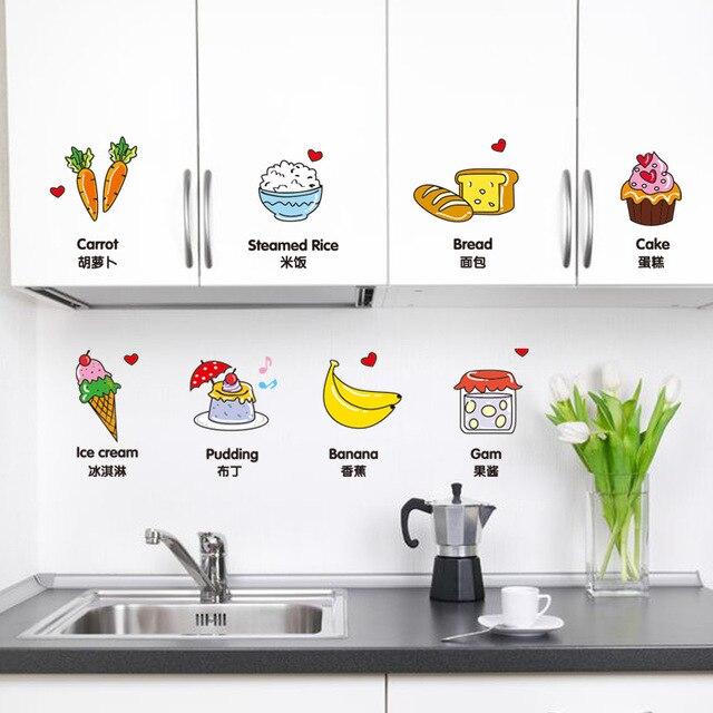 Entfernbare Wandaufkleber Kreative Küche Cartoon Schrank Mode ...