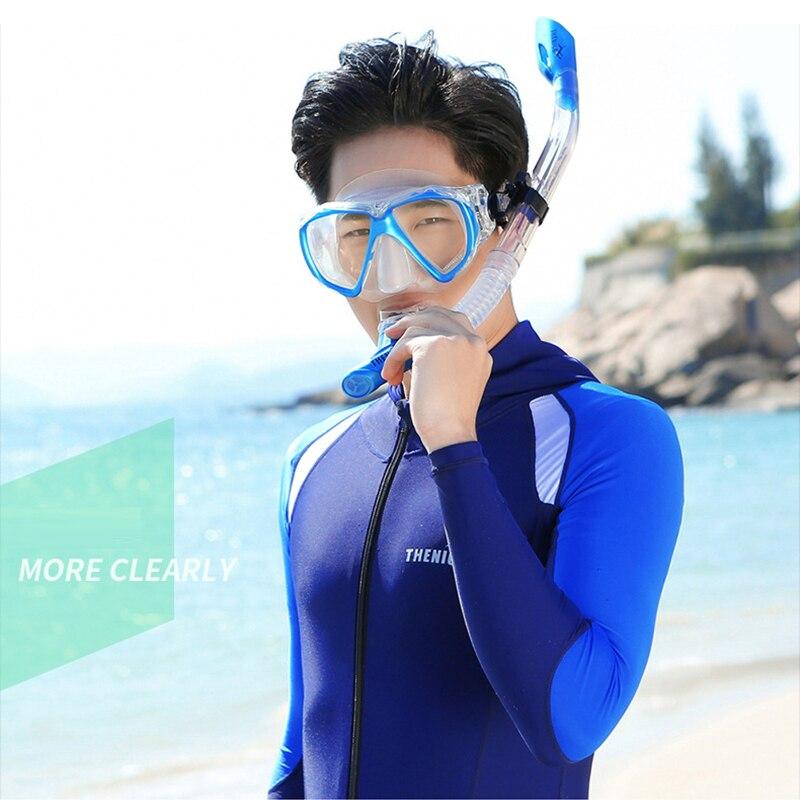 Anti-brouillard plongée tube respiratoire adulte lunettes de natation équipement de plongée sous-marine tuba