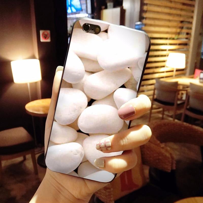 Maiyaca много камней-красочные галька дизайн моды кожа тонкий ПК cell чехол для iphone 8 7 6 6 S плюс x 10 5 5S SE 5C Coque В виде ракушки