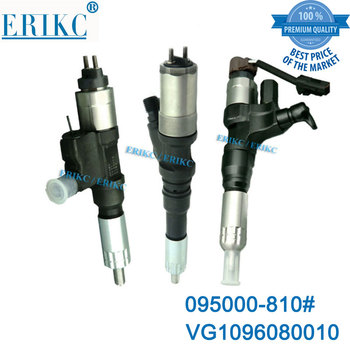 ERIKC Injector Nozzle 8100 High Performance Fuel Injector 0950008100 Diesel Common Rail Injection 095000-8100 for HOWO Truck