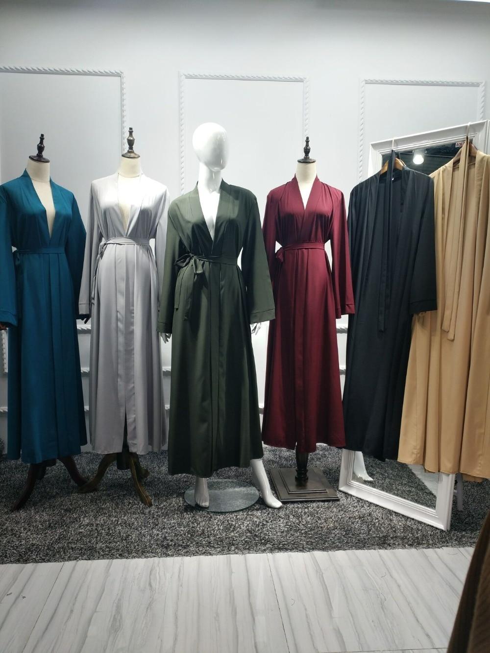 Abaya Dubai Muslim Dress Kaftan Kimono Robe Muslim Women's Abaya