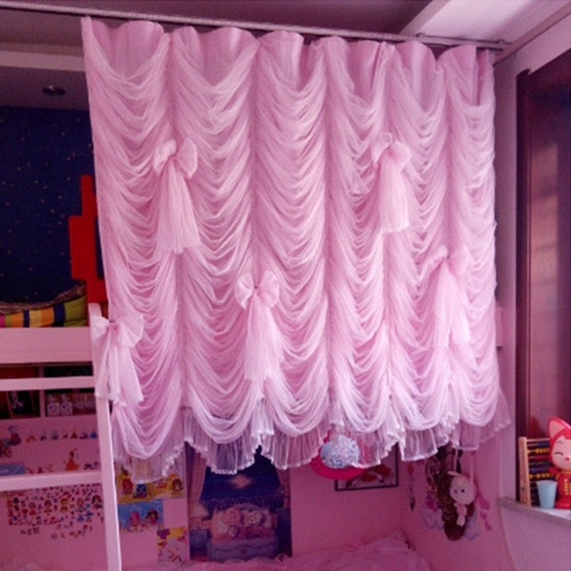 Romantic window curtains for living room door curtain cotton cloth ...