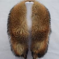 Winter Adult New Arrival Real 2017 Natural Fur Luxury Raccoon Dog Collar Ring 130cm Women Genuine Fox For Down Jacket Wholesale