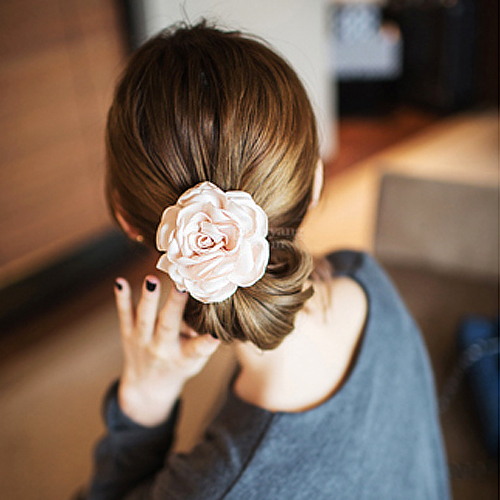 Big Camellia  Hair Tie