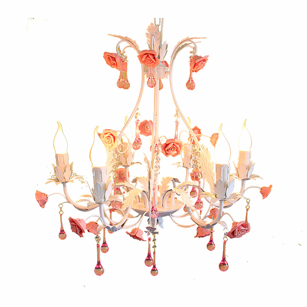 Online get cheap chandelier pink rose aliexpress alibaba group top pastoral european style pink crystal chandelier rose iron 110v 220v fashion e14 modern arubaitofo Choice Image