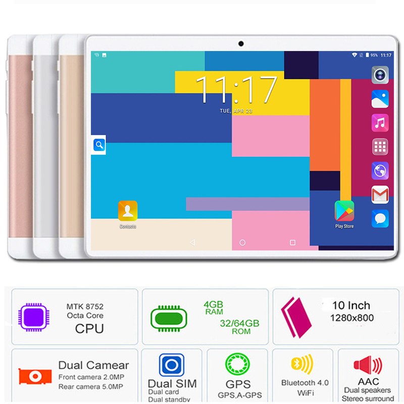 10inch Tablet Dual-Sim-Cards Octa-Core Android 8.0 4G LTE 64GB-ROM New Hot PC 3G Gifts