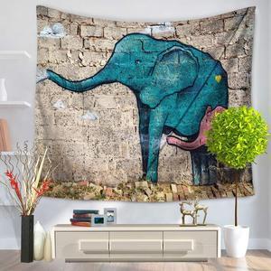 Image 4 - Tapisserie avec imprimé déléphant, Style indien, décoration murale, serviette de plage, Hippie, couverture de pique nique, pour dortoir