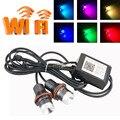 O ENVIO GRATUITO de 1 Conjunto 12 V 10 W * 2 20 W LED Marcador Angel Eyes CREE Chip wi-fi RGBW led anjo para E39 E53 E60 E61 E63 E64 E65 E66 E87