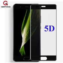 Фотография GerTong 5D Curved Edge Tempered Glass For Huawei P10 Lite Plus Protective Film For Huawei Honor 9 V9 Full Cover Screen Protector