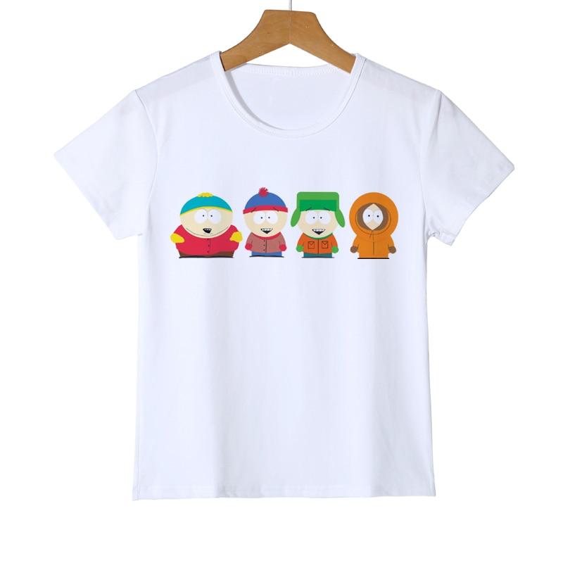 New Cartoon Sitcoms South Park T-shirt Kids Slim Fit Short Sleeve Childrens TShirt Student Cute Brand Boys/Girl Tee Shirt D3-20