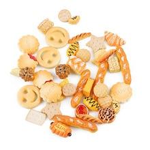 10 шт., милые мини-игрушки, торт, печенье, пончики, кукольный домик, миниатюрные куклы, аксессуары, орнамент, Кухонные Игрушки для игр, десерт для детской куклы