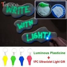TOFOCO Glow In The Dark Playdough Polymer Slime Toys Luminous Light Plasticine Clay Lizun Putty Education Novelty Toy Clayey