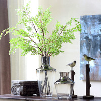 Handcrafted Glass Featuring Transparent Flower Arrangement Water Bottle Home Decoration Wedding Plant Decorative Vase