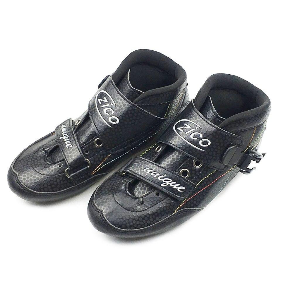 JEERKOOL vitesse Patins à roulettes en Fiber de carbone bottes professionnel course patinage ZICO Patins pour enfants adultes hommes Patins SX12