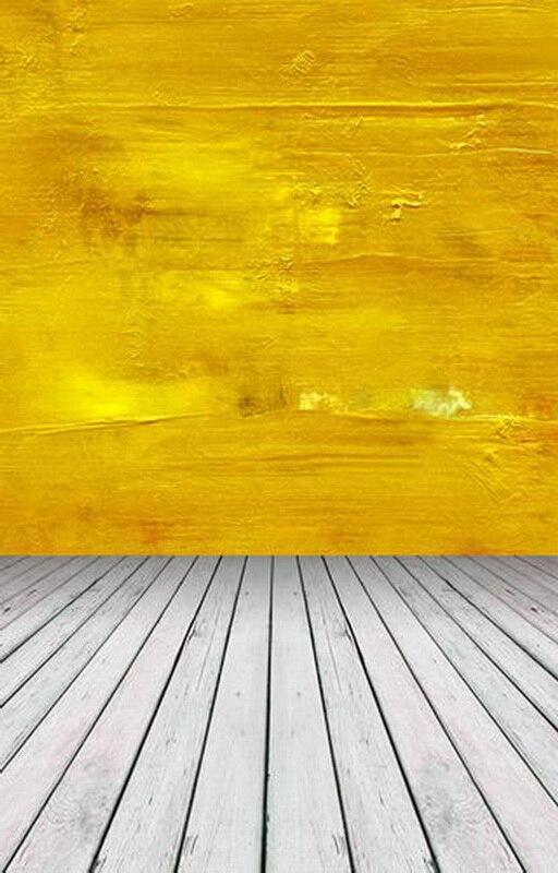 Vinyl print yellow art wall wood floor photography backdrops for wedding newborn photo studio portrait or party background F-780 wood floor wheel photo background vinyl studio photography backdrops prop diy