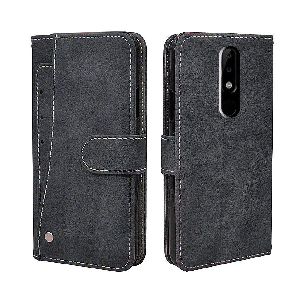 Luxury <font><b>Wallet</b></font> <font><b>Case</b></font> For <font><b>Nokia</b></font> 1 2.1 3.1 <font><b>5.1</b></font> 6.1 7.1 8.1 <font><b>Plus</b></font> <font><b>Case</b></font> Vintage Flip Leather TPU Silicone Cover Business Card Slots image