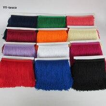 YY-tesco 1 ярд 15 см широкая кружевная бахрома отделка кисточка бахрома отделка для DIY латинское платье сценическая одежда аксессуары кружевная лента