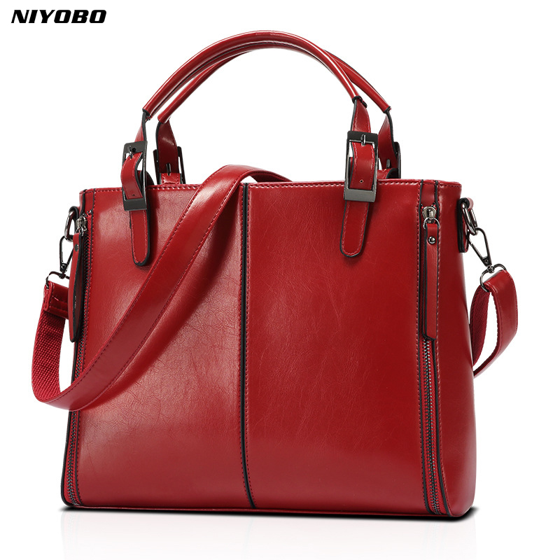 NIYOBO Luxury Women messenger bags Leather Handbags Top-Handle bags ladies tote retro shoulder bags Female crossbody bag bolsos women top handle bags flap crossbody bags women leather small handbags fashion female solid tote ladies shoulder bag 14to31 9 2