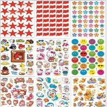 G410 children's reward sticker kindergarten praise cartoon sticky paper Pentagram small red flower smiling face and so on(China)