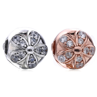 925 Sterling Silver Lock Clip Stopper Charms Rose Gold Crystal Beads For Original Pandora 925 Sterling Silver Bracelets Bangles