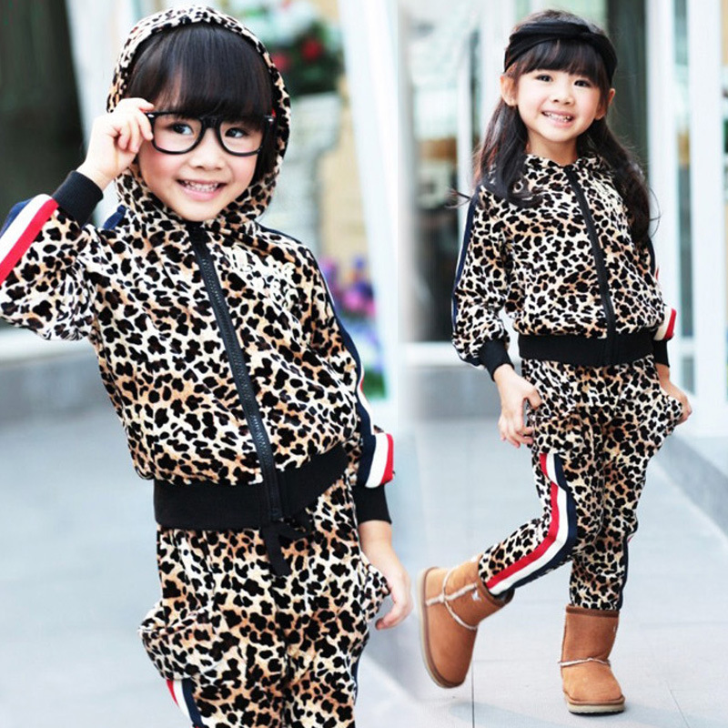 ФОТО Anlencool Free shipping autumn winter Korean version color of Leopard  Set of children's clothing baby clothing baby boy set