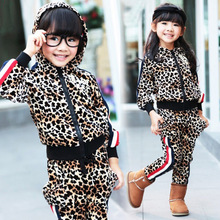 Anlencool Free shipping autumn winter Korean version color of Leopard  Set of children's clothing baby clothing baby boy set