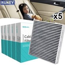 5PC Car Activated Carbon Cabin Air Filter B727A 79925 7803A004 For Nissan Teana X trail Mitsubishi ASX Lancer Infiniti FX35 FX45