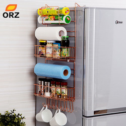 ORZ холодильник Broadside полка стойка боковина универсальная полка трещина стеллаж для хранения многослойный кухонный Органайзер