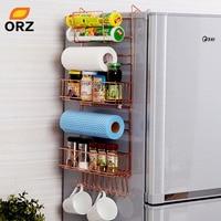 ORZ Refrigerator Broadside Shelf Rack Sidewall Multipurpose Shelf Crack Storage Rack Multi layer Kitchen Organizer