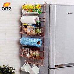 ORZ refrigerador Broadside estante de pared lateral multipropósito de Crack Rack de almacenamiento Multi-capa, organizador de cocina
