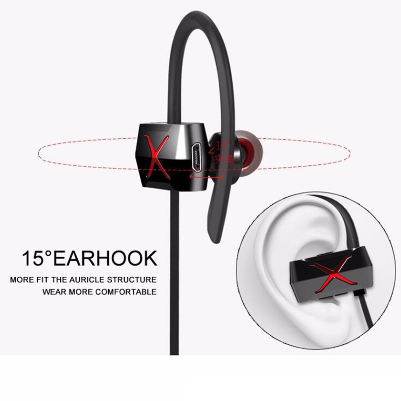 New Wireless headphones bluetooth earphone stereo headset sports running Sweatproof IPX4 hands-free earbuds for iPhone Samsung