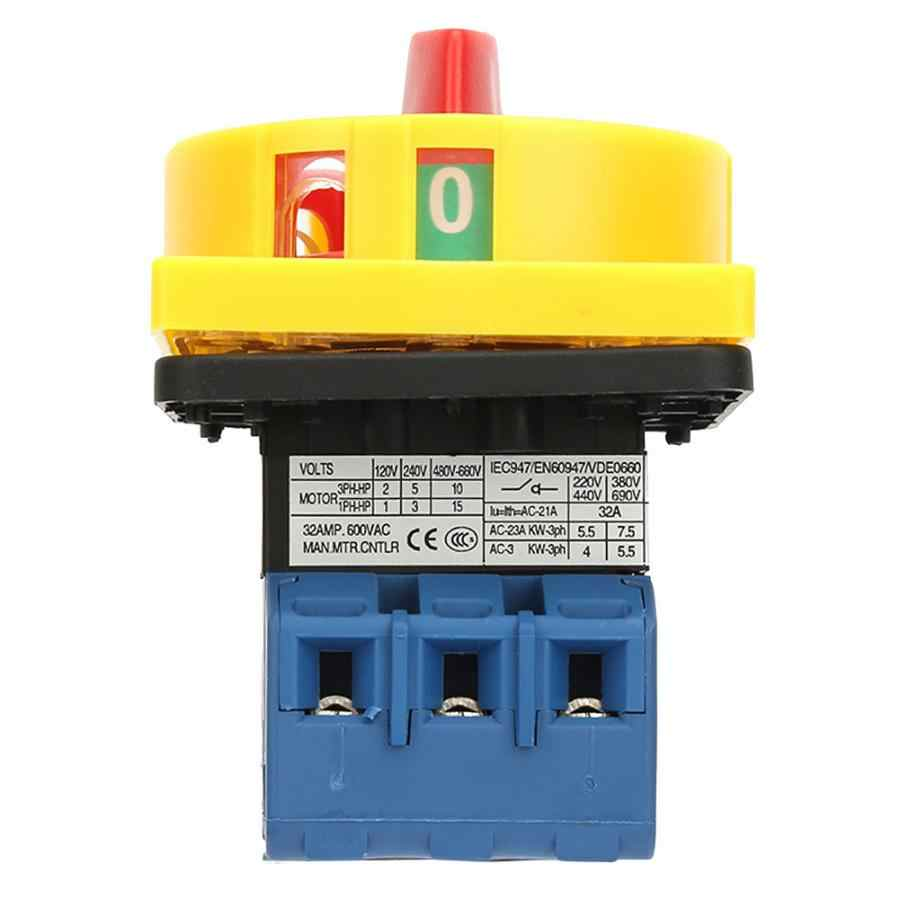 Автоматический выключатель постоянного тока 25A/32A нагрузки выключатель 3-полюсный 2-х позиционный Выключатель поворотный кулачок ВКЛ-ВЫКЛ Мощность выключатель автоматический выключатель постоянного тока.