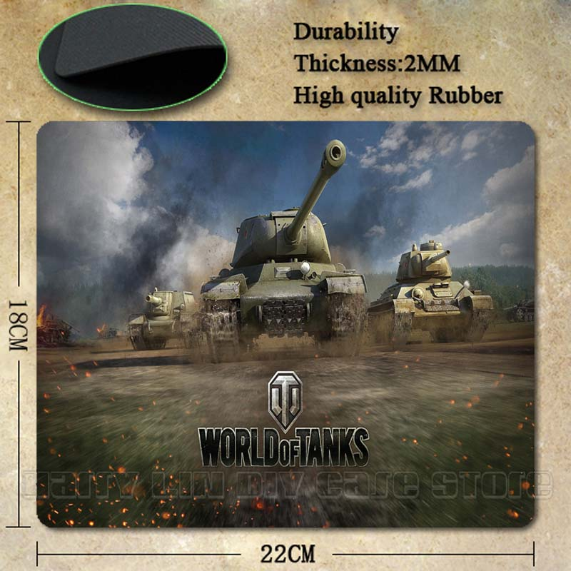Babaite Top Selling World of Tanks Popular Gaming Rectangle Silicon Durable Mouse Pad Co ...