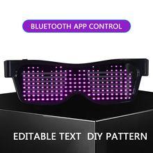 Смарт Bluetooth светодиодный очки модные мигающие солнцезащитные очки для мобильного телефона подключение приложения беспроводной Динамический узор очки