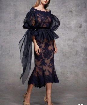 5009b3723e5 Best продавать оболочка для матери невесты платья с рукавом три четверти Чай  Длина элегантное кружевное Для женщин Вечеринка платье